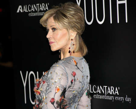 jane: Jane Fonda at the Los Angeles premiere of Youth held at the DGA Theatre in Hollywood, USA on November 17, 2015.