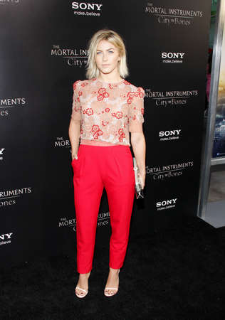 mortal: Julianne Hough at the Los Angeles premiere of The Mortal Instruments: City Of Bones held at the Cinerama Dome in Hollywood, USA on August 12, 2013. Editorial