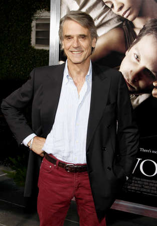 Jeremy Irons at the Los Angeles premiere of The Words held at the ArcLight Cinemas in Hollywood on September 4, 2012.