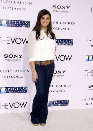 vow: Rebecca Black at the Los Angeles premiere of The Vow held at the Graumans Chinese Theatre in Hollywood on February 6, 2012.