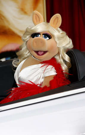 HOLLYWOOD, CA  - NOVEMBER 12, 2011. Miss Piggy at the World premiere of The Muppets held at El Capitan Theater in Hollywood, USA on November 12, 2011.
