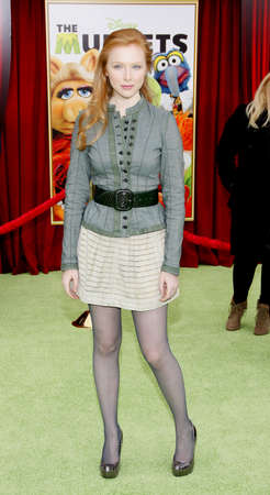 HOLLYWOOD, CA - NOVEMBER 12, 2011. Molly C. Quinn at the World premiere of The Muppets held at El Capitan Theater in Hollywood, USA on November 12, 2011.