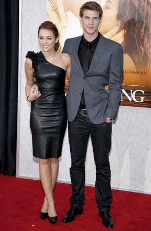 cyrus: Miley Cyrus and Liam Hemsworth at the Los Angeles premiere of The Last Song held at the ArcLight Cinemas in Hollywood, USA on March 25, 2010. Editorial