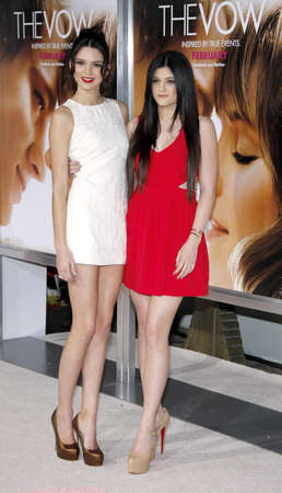 vow: Kendall Jenner and Kylie Jenner at the Los Angeles premiere of The Vow held at the Graumans Chinese Theatre in Hollywood on February 6, 2012. Editorial