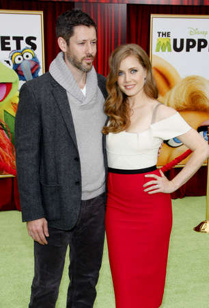 darren: HOLLYWOOD, CA - NOVEMBER 12, 2011. Darren Le Gallo and Amy Adams at the World premiere of The Muppets held at El Capitan Theater in Hollywood, USA on November 12, 2011.
