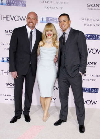 vow: Michael Sucsy, Rachel McAdams and Channing Tatum at the Los Angeles premiere of The Vow held at the Graumans Chinese Theatre in Hollywood, USA on February 6, 2012.