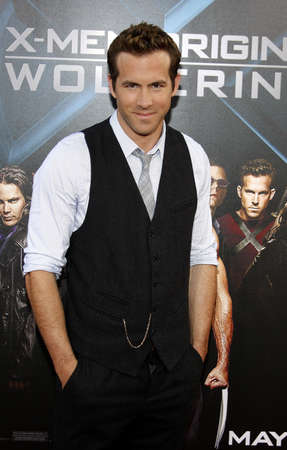 origins: Ryan Reynolds at the Los Angeles premiere of X-Men Origins: Wolverine held at the Graumans Chinese Theatre in Hollywood, USA on April 28, 2009. Editorial