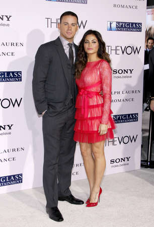 vow: Channing Tatum and Jenna Dewan at the Los Angeles premiere of The Vow held at the Graumans Chinese Theatre in Hollywood, USA on February 6, 2012. Editorial