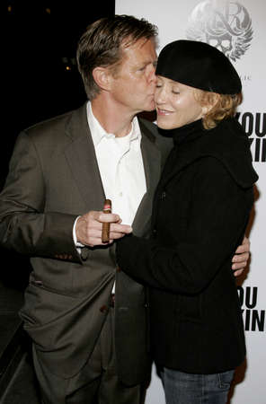 felicity: William H. Macy and Felicity Huffman at the Los Angeles premiere of Thank You For Smoking held at the Directors Guild of America in Hollywood on March 16, 2006.