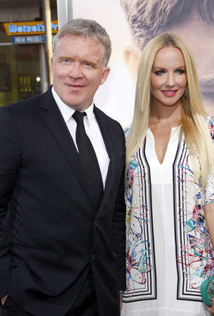 diviner: Anthony Michael Hall and Lucia Oskerova at the Los Angeles premiere of The Water Diviner held at the TCL Chinese Theatre IMAX in Hollywood, USA on April 16, 2015.