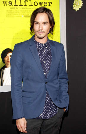 wallflower: Tyler Blackburn at the Los Angeles premiere of The Perks Of Being A Wallflower held at the ArcLight Cinemas in Hollywood on September 10, 2012.