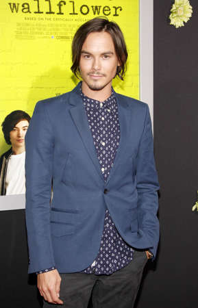 wallflower: Tyler Blackburn at the Los Angeles premiere of The Perks Of Being A Wallflower held at the ArcLight Cinemas in Hollywood, USA on September 10, 2012. Editorial