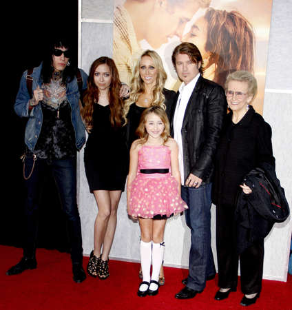 ray trace: Billy Ray Cyrus, Tish Cyrus, Brandi Cyrus and Trace Cyrus at the Los Angeles premiere of The Last Song held at the ArLight Cinemas in Hollywood, USA on March 25, 2010. Editorial
