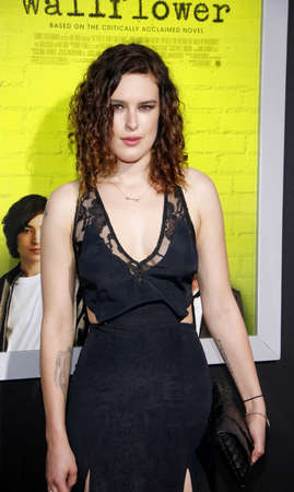 perks: Rumer Willis at the Los Angeles premiere of The Perks Of Being A Wallflower held at the ArcLight Cinemas in Hollywood on September 10, 2012. Editorial