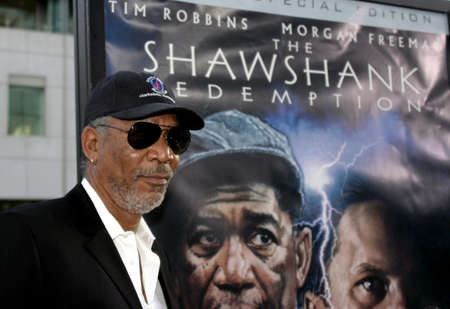 redemption: BEVERLY HILLS, CA - SEPTEMBER 23, 2004: Morgan Freeman at the 10th Anniversary Screening of The Shawshank Redemption held at the AMPAS in Beverly Hills, USA on September 23, 2004. Editorial