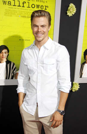 wallflower: Derek Hough at the Los Angeles premiere of The Perks Of Being A Wallflower held at the ArcLight Cinemas in Hollywood on September 10, 2012. Editorial