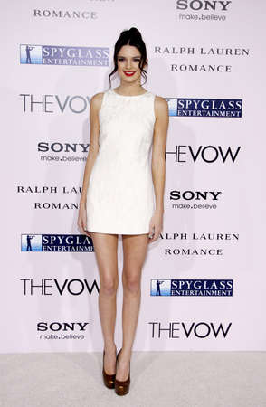 vow: Kendall Jenner at the Los Angeles premiere of The Vow held at the Graumans Chinese Theatre in Hollywood on February 6, 2012. Editorial