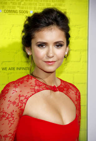 perks: Nina Dobrev at the Los Angeles premiere of The Perks Of Being A Wallflower held at the ArcLight Cinemas in Hollywood on September 10, 2012. Editorial