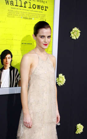 wallflower: Emma Watson at the Los Angeles premiere of The Perks Of Being A Wallflower held at the ArcLight Cinemas in Hollywood on September 10, 2012.