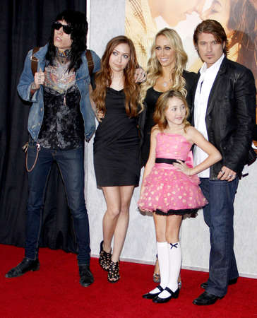 cyrus: Billy Ray Cyrus, Tish Cyrus, Brandi Cyrus and Trace Cyrus at the Los Angeles premiere of 'The Last Song' held at the ArLight Cinemas in Hollywood, USA on March 25, 2010.