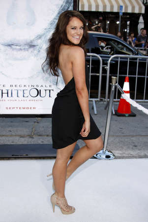 lacey: Lacey Schwimmer at the Los Angeles premiere of Whiteout held at the Mann Village Theatre in Westwood on September 9, 2009. Editorial