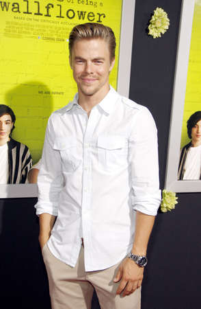 perks: Derek Hough at the Los Angeles premiere of The Perks Of Being A Wallflower held at the ArcLight Cinemas in Hollywood on September 10, 2012. Editorial