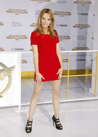 lea: Lea Thompson at the Los Angeles premiere of The Hunger Games: Mockingjay - Part 1 held at the Nokia Theatre L.A. Live in Los Angeles on November 17, 2014 in Los Angeles, California.