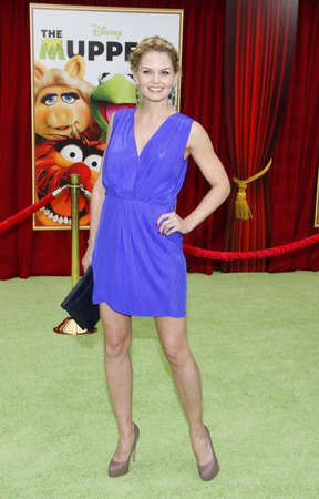 morrison: HOLLYWOOD, CA  - NOVEMBER 12, 2011. Jennifer Morrison at the World premiere of The Muppets held at El Capitan Theater in Hollywood, USA on November 12, 2011.
