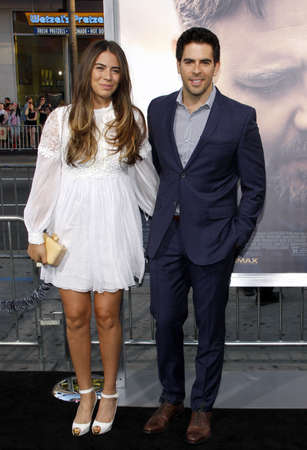 diviner: Eli Roth and Lorenza Izzo at the Los Angeles premiere of The Water Diviner held at the TCL Chinese Theatre IMAX in Hollywood, USA on April 16, 2015.