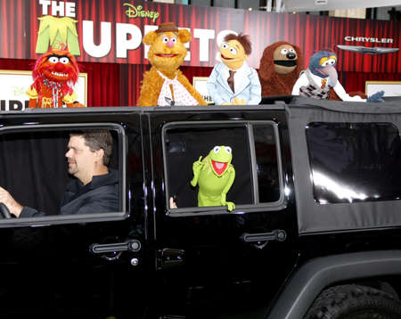 HOLLYWOOD, CA  - NOVEMBER 12, 2011. The Muppets at the World premiere of The Muppets held at El Capitan Theater in Hollywood, USA on November 12, 2011.