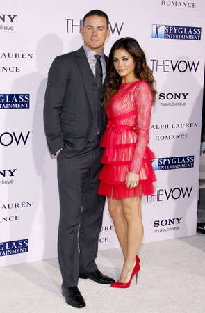 vow: Channing Tatum and Jenna Dewan at the Los Angeles premiere of The Vow held at the Graumans Chinese Theatre in Hollywood on February 6, 2012.