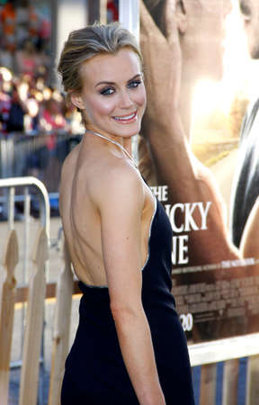 Taylor Schilling at the Los Angeles premiere of The Lucky One held at the Graumans Chinese Theater, California, United States on April 16, 2012. Editorial
