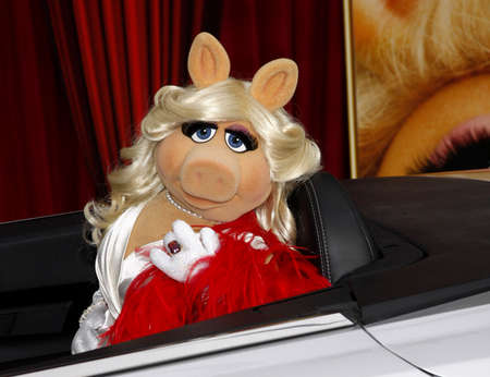 HOLLYWOOD, CA  - NOVEMBER 12, 2011. Miss Piggy at the World premiere of 'The Muppets' held at El Capitan Theater in Hollywood, USA on November 12, 2011.