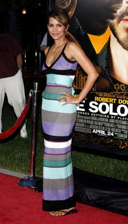 soloist: Halle Berry at the Los Angeles premiere of The Soloist held at the Paramount Studios Theatre in Hollywood on April 20, 2009. Editorial