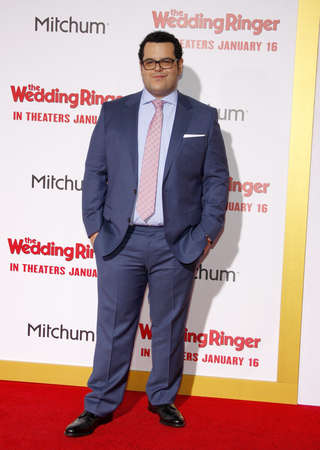 gad: Josh Gad at the Los Angeles premiere of The Wedding Ringer held at the TCL Chinese Theater in Hollywood on January 6, 2015.