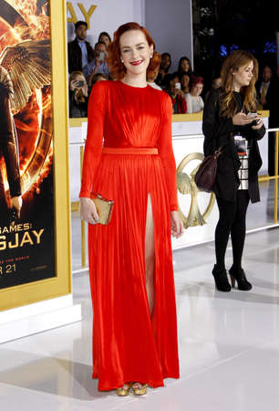 malone: Jena Malone at the Los Angeles premiere of The Hunger Games: Mockingjay - Part 1 held at the Nokia Theatre L.A. Live in Los Angeles on November 17, 2014 in Los Angeles, California.