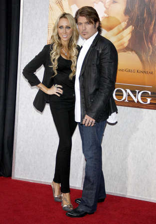 cyrus: Billy Ray Cyrus and Tish Cyrus at the Los Angeles premiere of The Last Song held at the ArcLight Cinemas in Hollywood, USA on March 25, 2010. Editorial