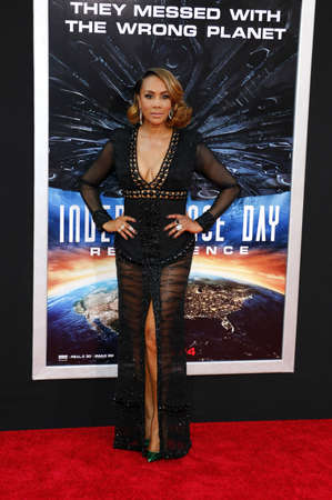 Viveca A. Fox at the Los Angeles premiere of Independence Day: Resurgence held at the TCL Chinese Theatre in Hollywood, USA on June 20, 2016.