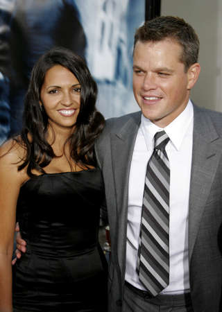 Matt Damon and Luciana Damon at the Los Angeles premiere of The Bourne Ultimatum held at the ArcLight Cinemas in Hollywood, USA on July 25, 2007. Editorial