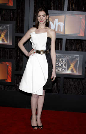 hathaway: Anne Hathaway at the 14th Annual Critics Choice Awards held at the Civic Auditorium in Santa Monica, USA on January 8, 2009. Editorial