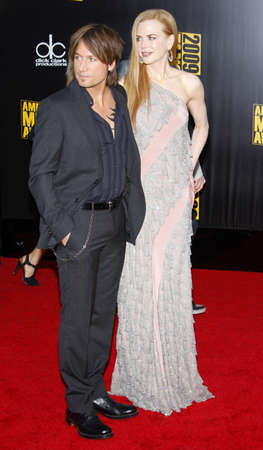 keith: Keith Urban and Nicole Kidman at the 2009 American Music Awards held at the Nokia Theater in Los Angeles, USA on November 22, 2009. Editorial