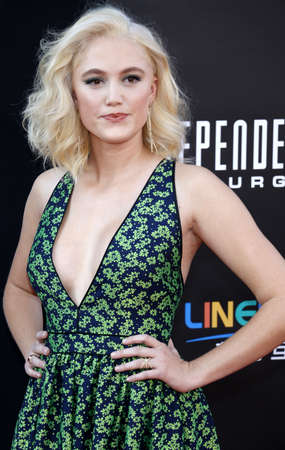 resurgence: Maika Monroe at the Los Angeles premiere of Independence Day: Resurgence held at the TCL Chinese Theatre in Hollywood, USA on June 20, 2016. Editorial