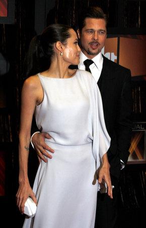 Angelina Jolie and Brad Pitt at the VH1's 14th Annual Critics' Choice Awards held at the Santa Monica Civic Auditorium in Santa Monica, USA on January 8, 2009.