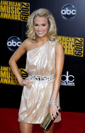 american music: Carrie Underwood at the 2009 American Music Awards held at the Nokia Theater in Los Angeles, USA on November 22, 2009. Editorial
