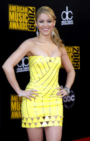 Shakira at the 2009 American Music Awards held at the Nokia Theater in Los Angeles, California, United States on November 22, 2009.
