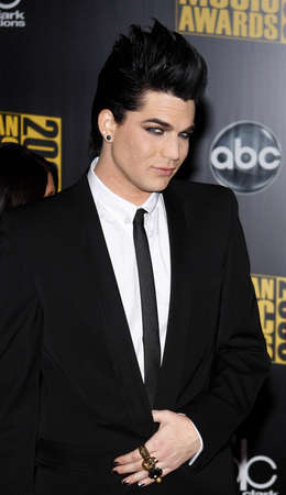 Adam Lambert at the 2009 American Music Awards held at the Nokia Theater in Los Angeles, California, United States on November 22, 2009.