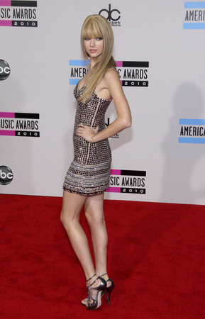 Taylor Swift at the 2010 American Music Awards held at the Nokia Theatre L.A. Live in Los Angeles, USA on November 21, 2010.