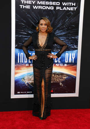 resurgence: Viveca A. Fox at the Los Angeles premiere of Independence Day: Resurgence held at the TCL Chinese Theatre in Hollywood, USA on June 20, 2016.
