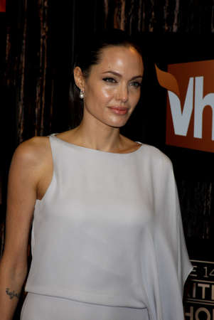 Angelina Jolie at the 14th Annual Critics' Choice Awards held at the Civic Auditorium in Santa Monica, California, United States on January 8, 2009.
