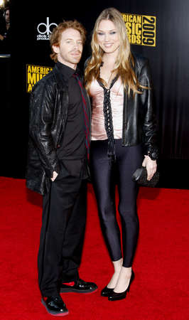 Seth Green and Clare Grant at the 2009 American Music Awards held at the Nokia Theater in Los Angeles, California, United States on November 22, 2009.